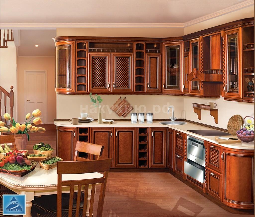 Кухня массив черешни ЗОВ