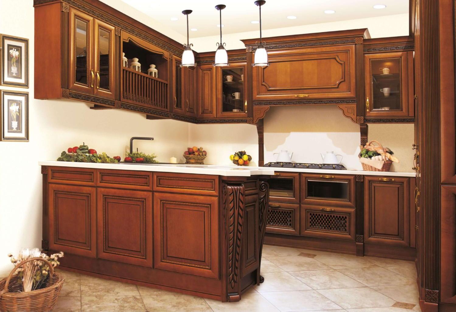 Кухня из массива Ясеня ЗОВ